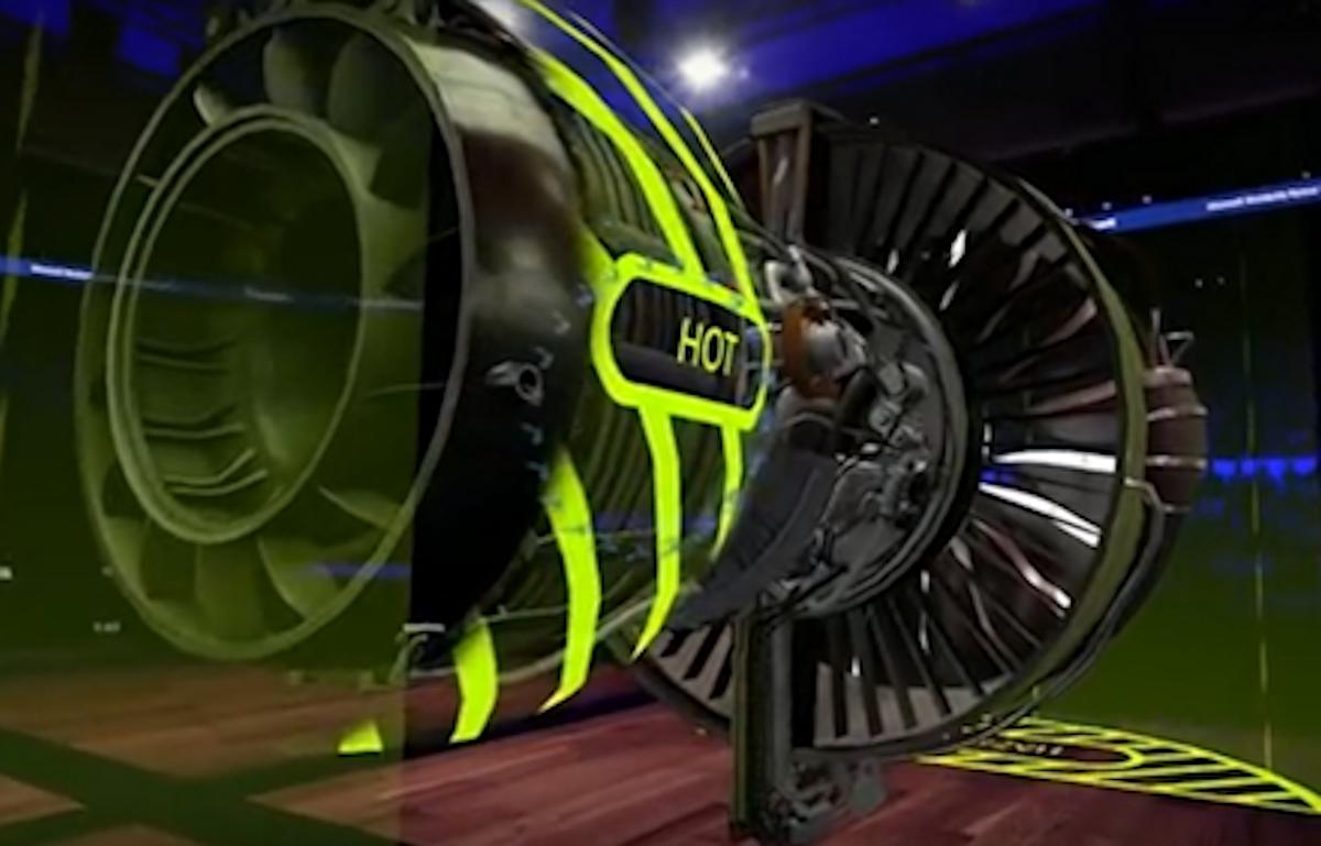 Mixed reality jet engine