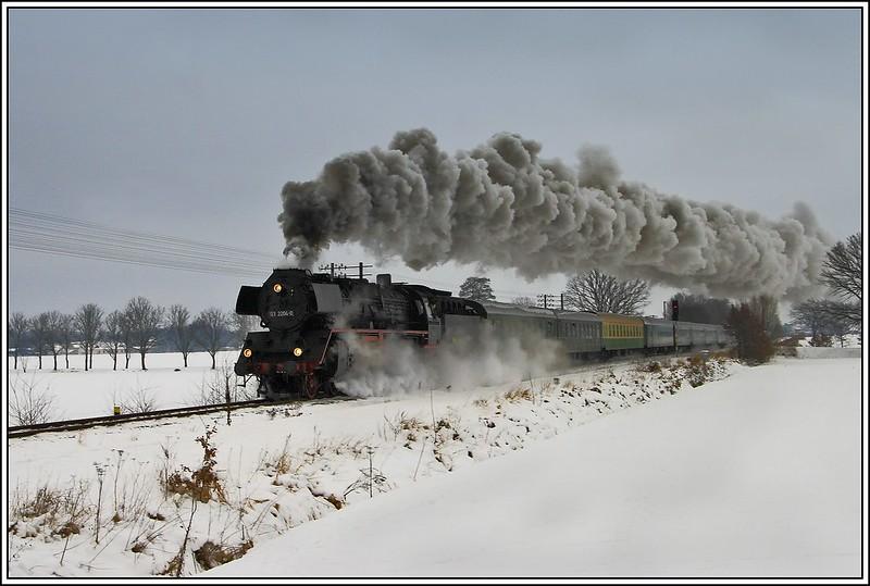 Winterdampf bei Zittau
