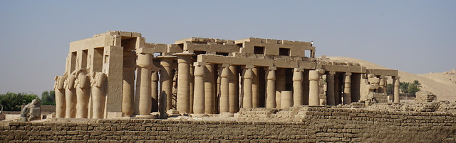 The Ramesseum is the memorial temple of Pharaoh Ramesses II, West Bank, Luxor, Egypt.