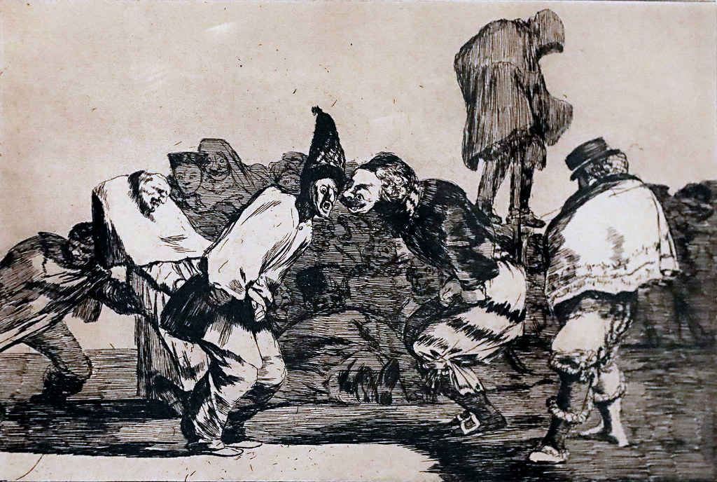 IMG_7501B Francisco de Goya 1746-1828 Foolishness 14 Foolishness of Carnival Folie du Carnaval Madrid Musée Reina Sofia