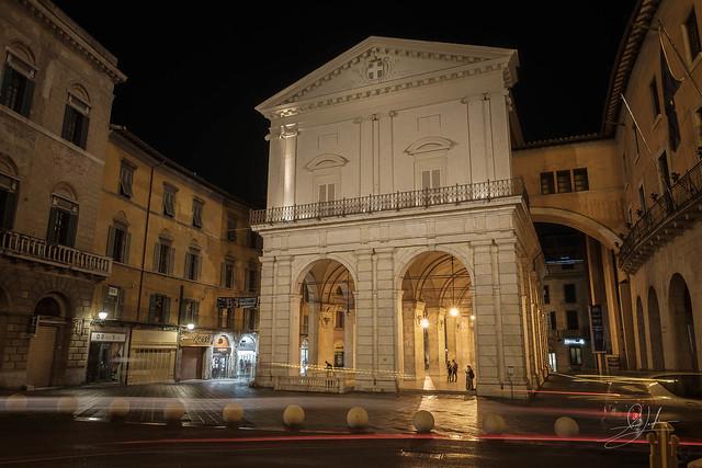 Nighttime In Pisa, Italy