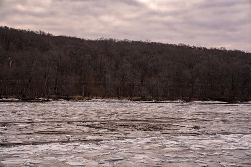minnesota saintcroixriver stcroixriver wildriverstatepark wisconsin evening frozen ice river snow sunset trees winter northbranch unitedstates us
