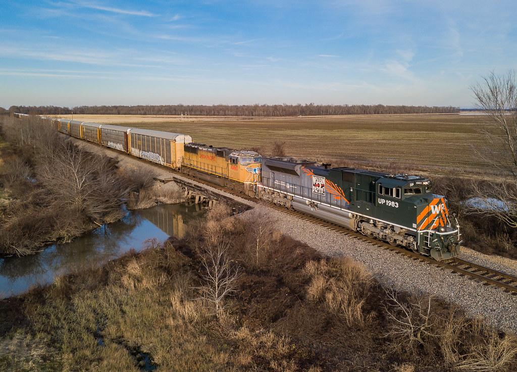 UP 1983 (SD70ACe) Train:ASMSP-17  Penrose, Arkansas