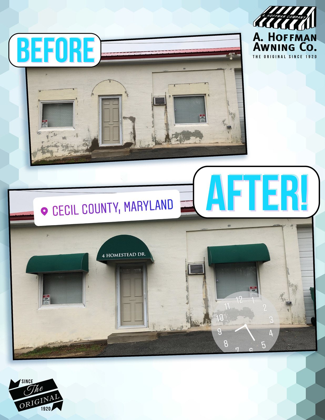 Before And After Extrior Awning