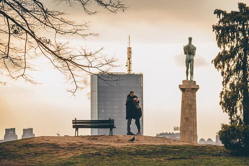 kalemegdan beograd belgrade serbia srbija fortress pobednik usce skyscraper bench people sunset december urban urbandetails vsco outdoor mikasniftyfifty telelens canon canon700d
