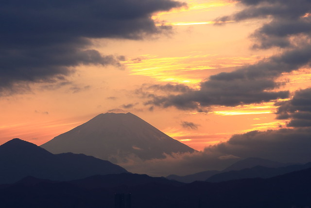 Mt.Fuji at Sunset