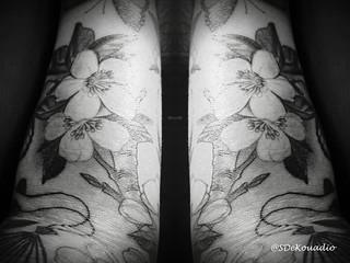 Cherry Blossoms Tattoo Black White Www Flickr Com Phot Flickr
