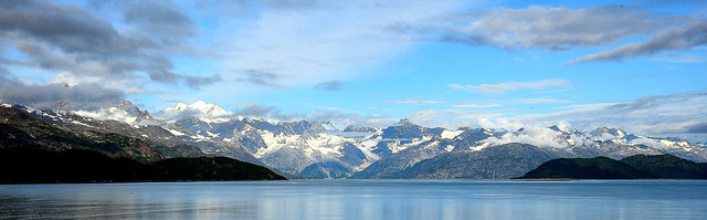 Snowcapped Mountains Of Glacier Bay