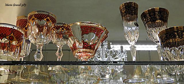 Series Shopwindows with Glassware in Prague - N5