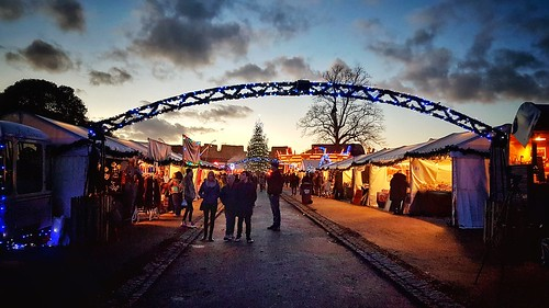 christmas market festive lights sunset dusk tents mulled wine rochester