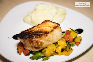 Miso Chilean Sea Bass, Chinese broccoli & sweet coconut potato mash | by thewanderingeater