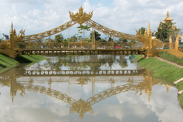 A golden bridge at Chiang Rai, I think it's 24 carat!