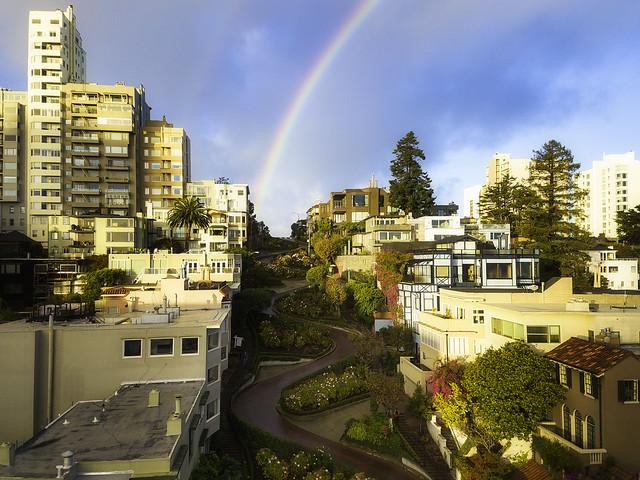 Lombard Street Rainbow