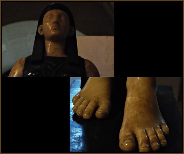 4 - Musée du Louvre, Antoine-Guillaume Grandjacquet - Isis déesse égyptienne - Marbre noir et albâtre - 1779-1781, Détails