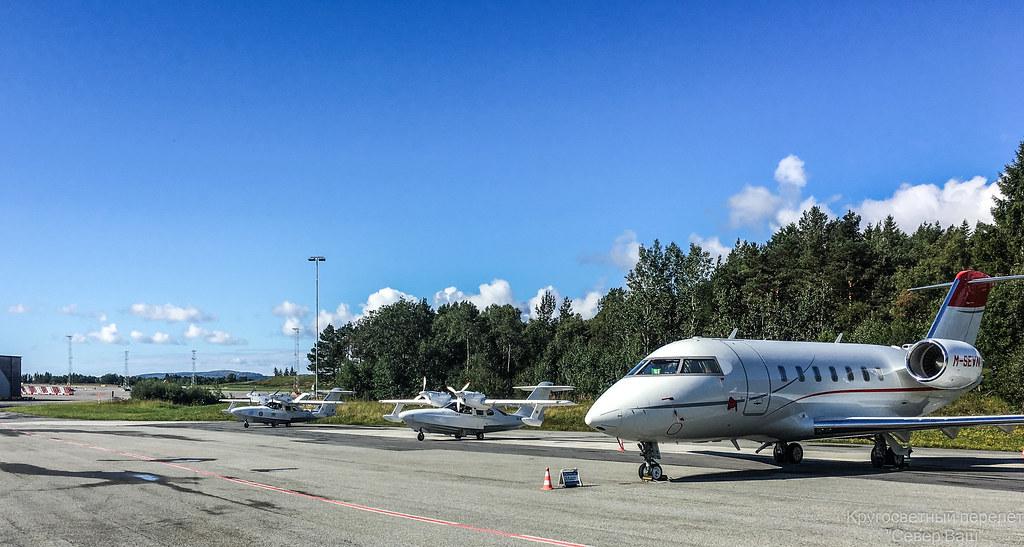 Ла-8 на стоянке в аэропорту Норвегии Берген