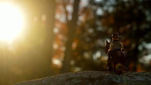 nikon d3200 adventurerjoe lego project365 cowboy horse sunset sun glow trees usa ct avon western reddeadredemption2