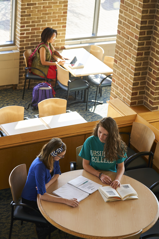 Students Studying in Pilla Atrium