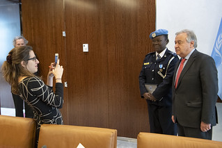 Secretary-General Meets United Nations Female Police Officer of the Year | by United Nations Photo