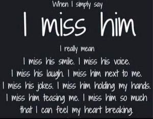 You him when miss I Miss