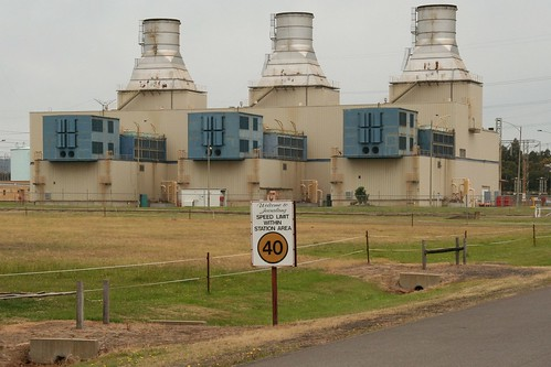 Trio of gas turbines at Jeeralang B Power Station