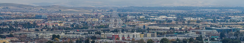 bayarea california nikon d810 color december 2018 boury pbo31 dublin eastbay alamedacounty over view infinity 580 680 interchange pleasanton highway roadway urban city traffic bart station metro panorama large stitched panoramic hotel rooftops