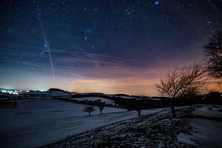 Orion am Nachthimmel über Reifferscheid