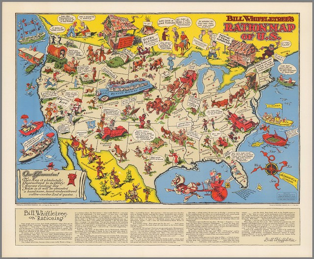 Ration map of the US