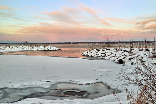 Cayuga Lake at Dusk   by marciaklue