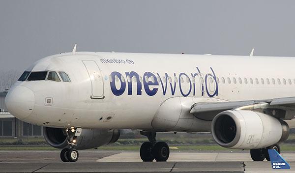 Oneworld A320 neutro (Benjamín Concha)