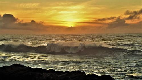 sunset oregon coast pacific ocean