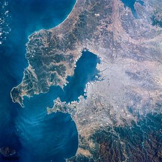 Image of Tokyo Bay, Japan. Original from NASA. Digitally enhanced by rawpixel.