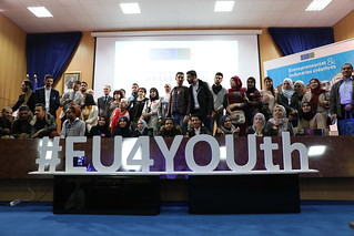 "Algeria – Laghouat: #EU4YOUth Campus Tour – ""Entrepreneurship and Creative Industries"" - Algérie - Laghouat : Campus Tour #EU4YOUth « Entreprenariat et industries créatives » - الجزائر – الأغواط، جولة في الحرم الجامعي #EU4YOUth ""ريادة الأعمال والصّناعات ا"