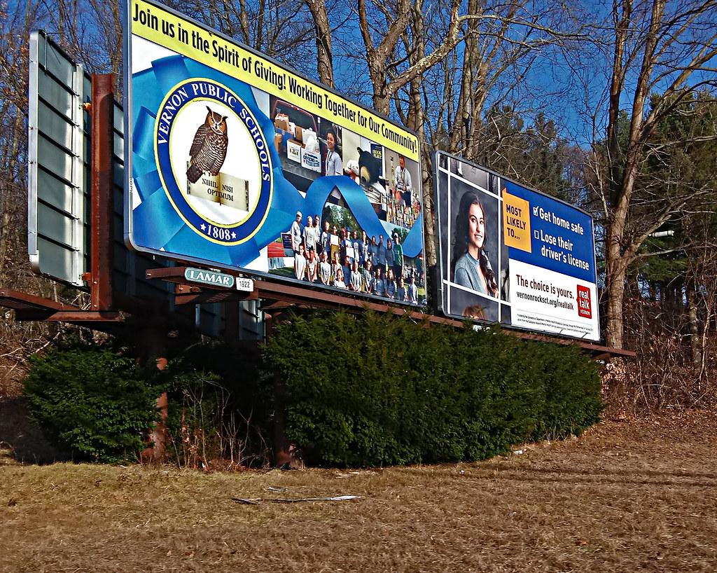Route 83 Billboard - Vernon, Connecticut   Rte  83 - Interse