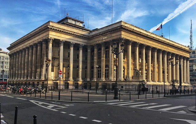 Paris  France - The Paris Bourse - Paris Historic Stock Exchange