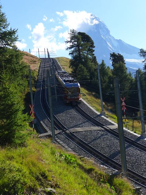 Matterhorn mit Gornergrat-Bahn