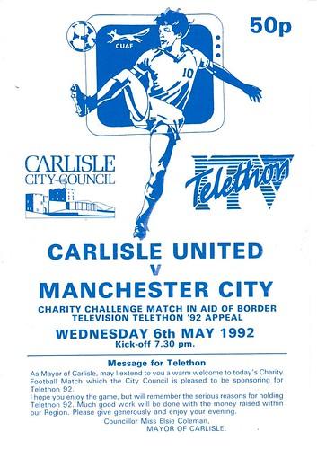 Carlisle United V Manchester City 6-5-92   by cumbriangroundhopper