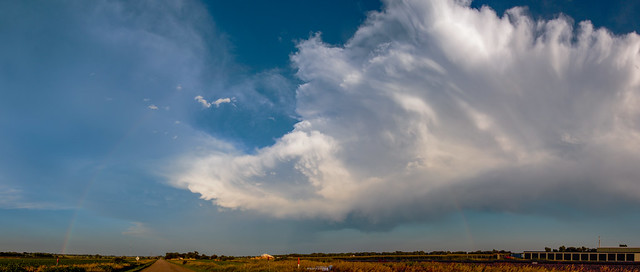 071918 Dying Nebraska Thunderstorm @ Sunset (Pano) 012