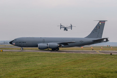 KC-135R  Stratotanker 57-1493 - 351st Air Refueling Squadron RAF Mildenhall | by stu norris