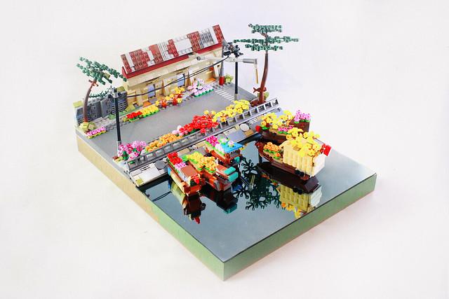 Chợ bông bến BÌnh Đông 23 Tết