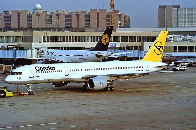 D-ABNK Boeing 757-230 [25438] (Condor) Frankfurt Int'l~D 29/02/1992