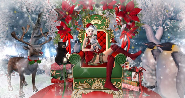 This year sweet Santa is sitting on MY lap... :-)