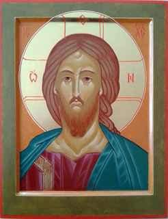 2016 Icône du Christ Pantocrator Sauveur - Christ the Savior Icon.  Main de - Hand of Francine Godbout | by Périchorèse-iconographie