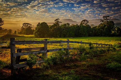 clouds farm grass hills landscape mountains nsw newsouthwales sunrise