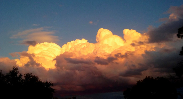 Cloud formation at sunset