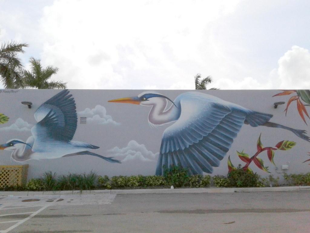 . Wilton Manors  FL   Heron Mural   Jeff Rozwadowski   Flickr