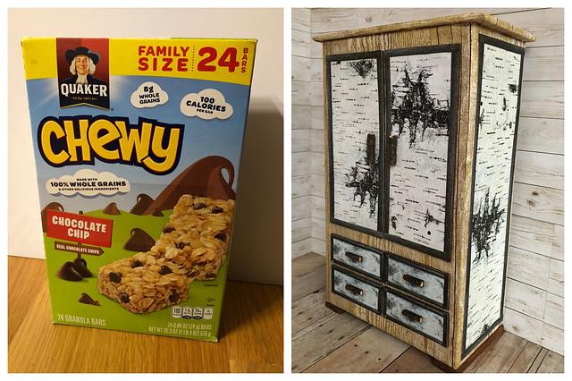 5. Granola bar box cabinet