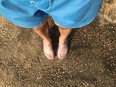 Special Shoes, the Marriot Beach, the Dead Sea Marriott Resort & Spa, Jordan.