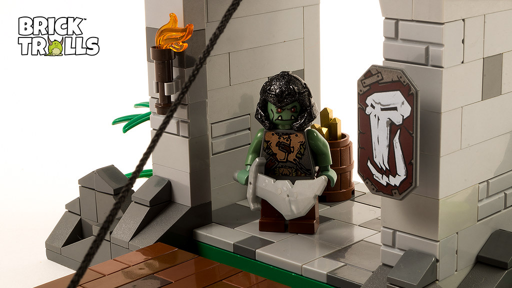 Lego Orc Castle Gate Moc Today We Made A Lego Orc Castle G Flickr
