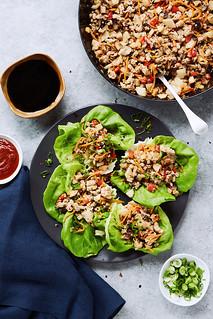 Keto Asian Chicken Lettuce Wraps {Paleo, Whole30}   by Tasty Yummies