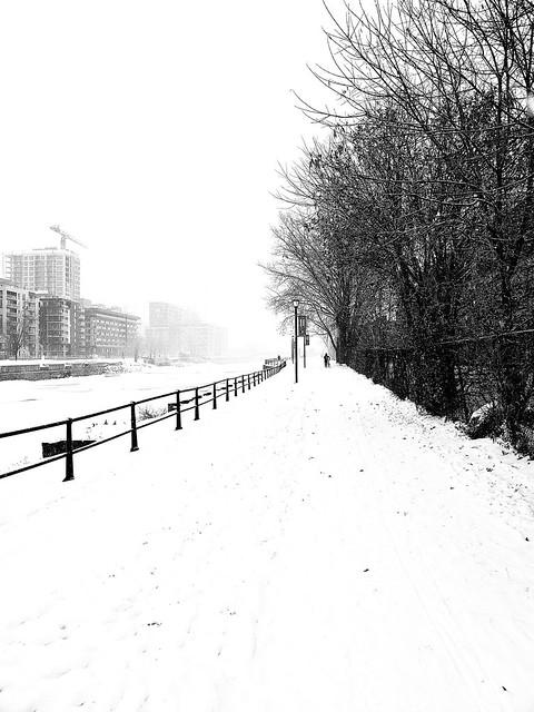 Snowy Walk on Lachine Canal
